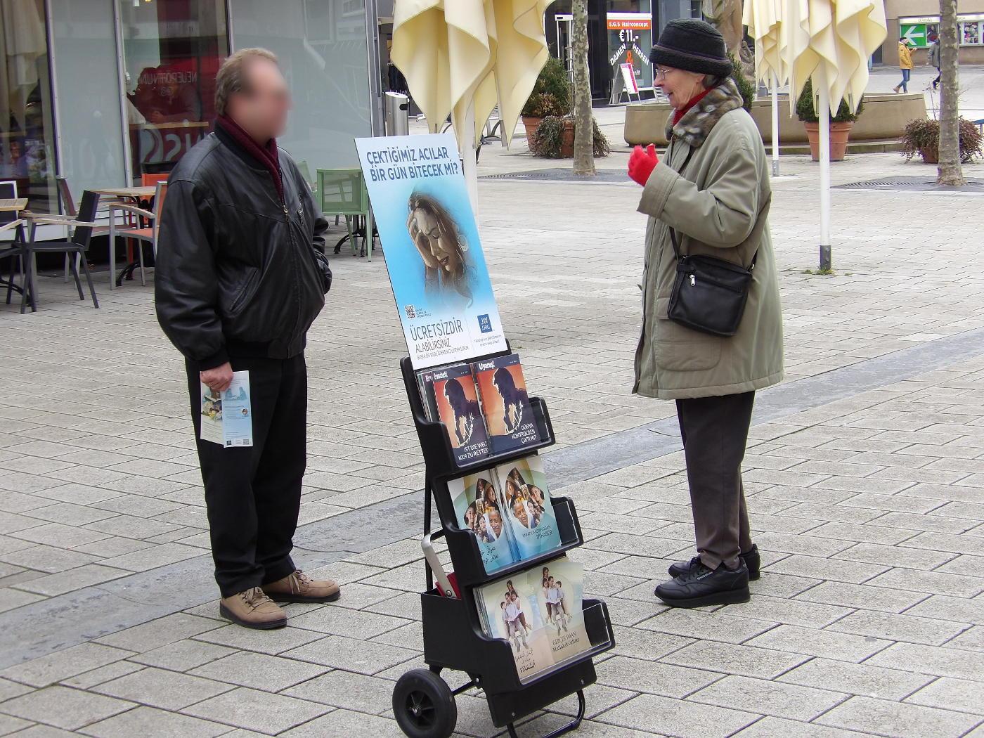 Jehova zeuge aus einem christen