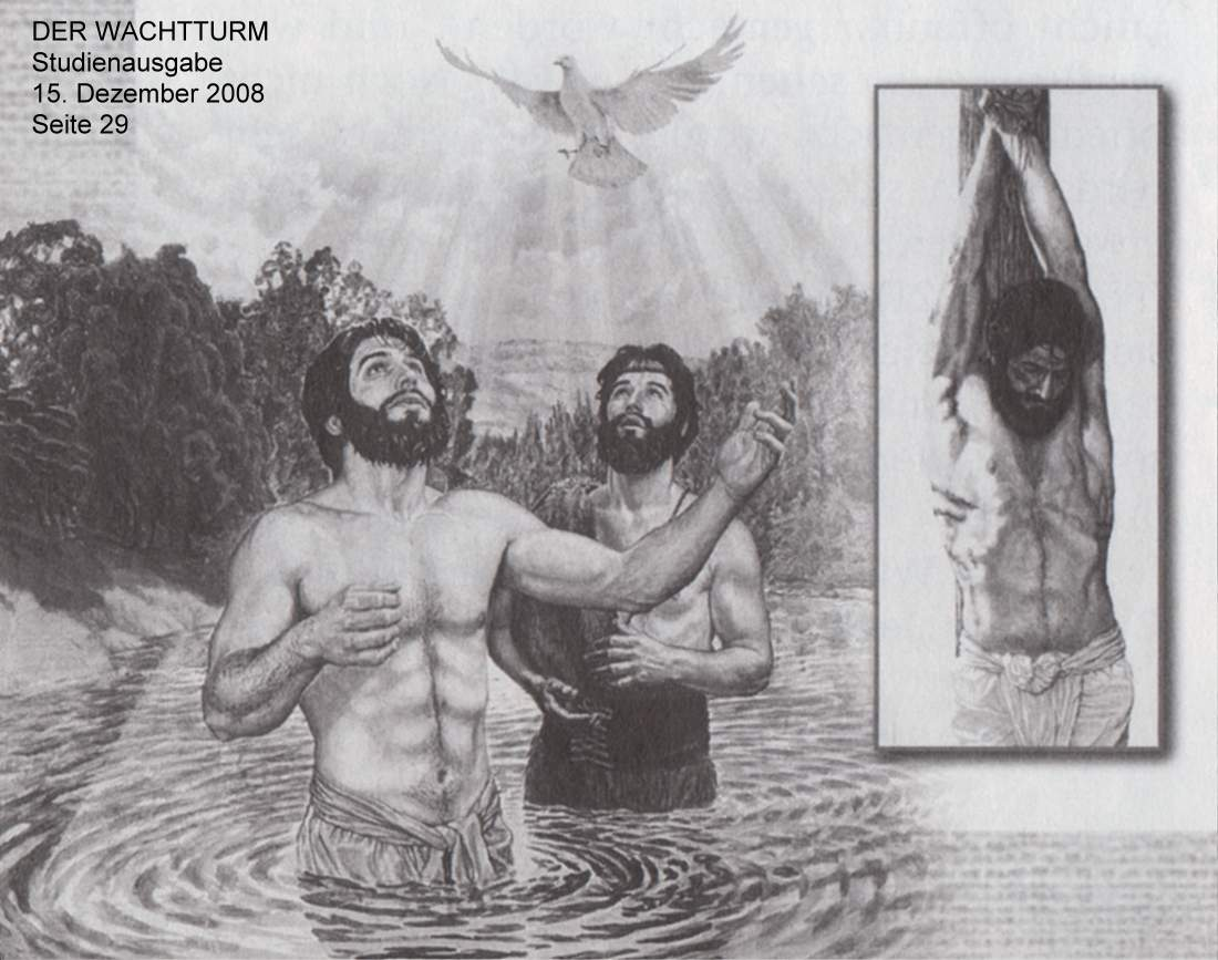 Eternal Satan at the staked Fake Jesus