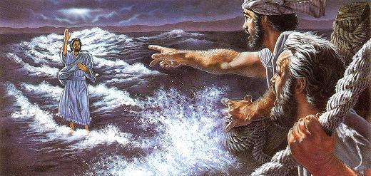 Watchtower-Jesus goes above water