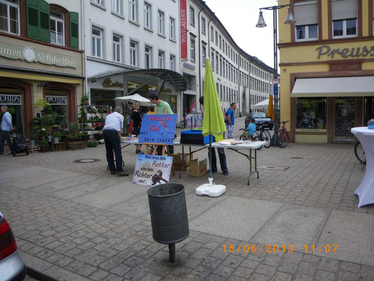 Free Christians from Neulussheim in Speyer on 15 June 2013