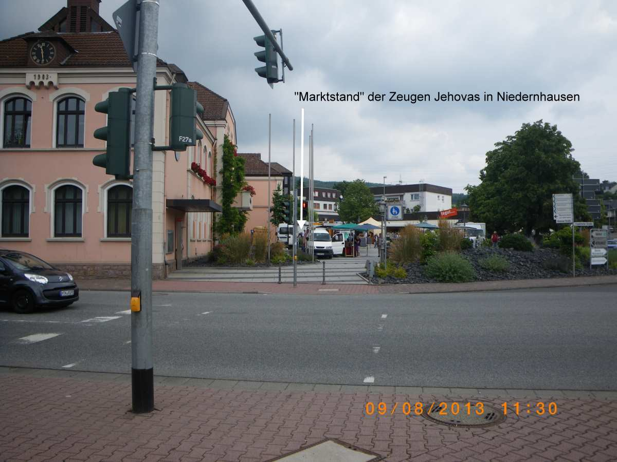Advertising stock of the Jehovah's Witnesses in Niedernhausen