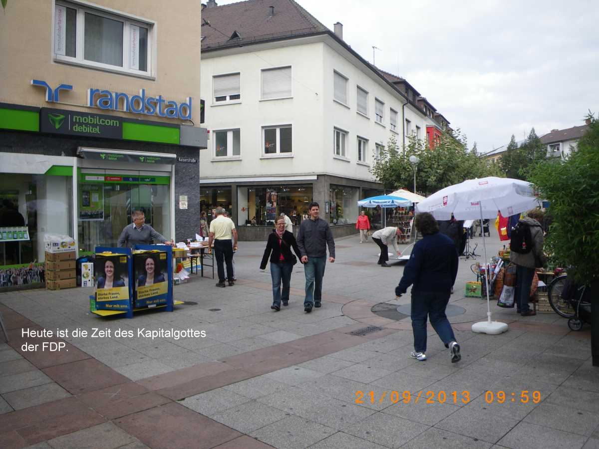 Election campaign, Bundestag election 2013 - very bad times for Jehovah God!