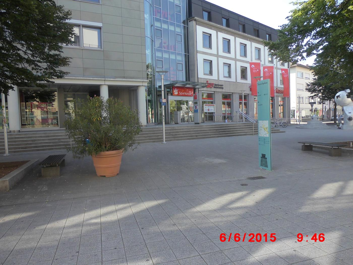 No Jehovah's Witnesses next to the broken watchtower of Bruchsal