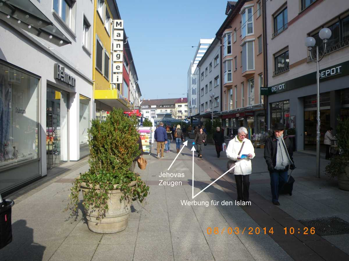 Bruchsal: Jehovah's Witnesses lie without eyelashes, without shame!