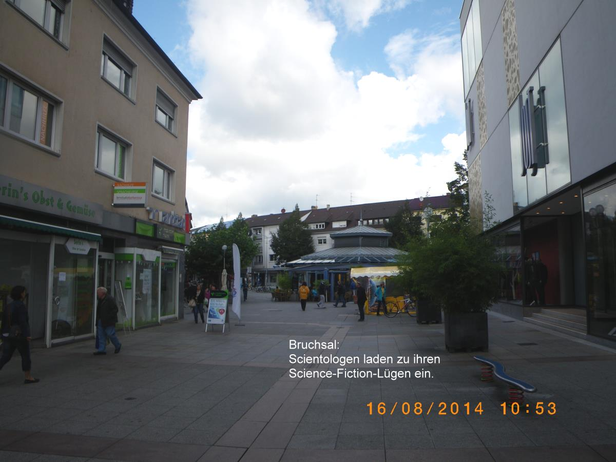 Jehovah's Witnesses in Bruchsal are screaming elitist and unaware of anything!