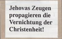 No Jehovah's Witnesses in Bruchsal and Speyer on 06.10.2012