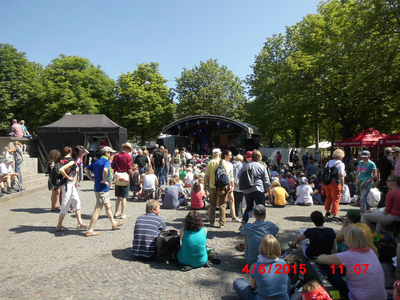 Kirchentag Stuttgart - Police react nervously