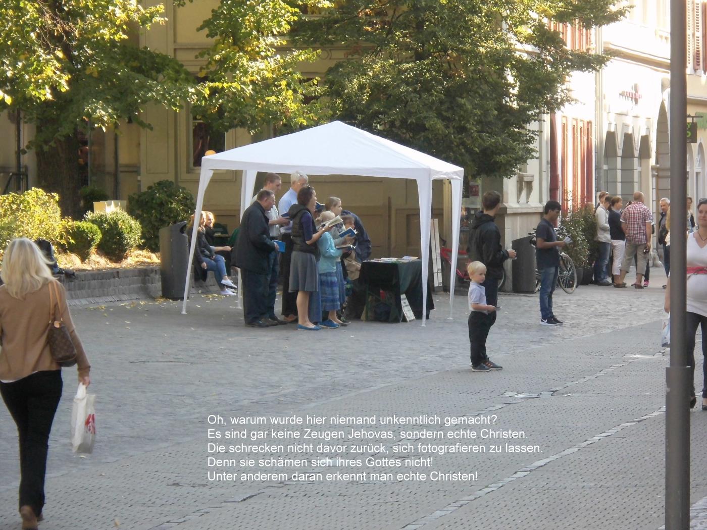 Jehovah's Witnesses in Heidelberg were ashamed