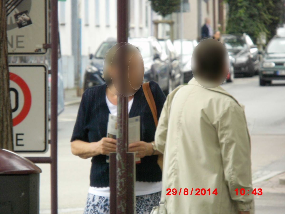 Jehovah's Witnesses in Wiesloch are advertisers for murder by bleeding to death