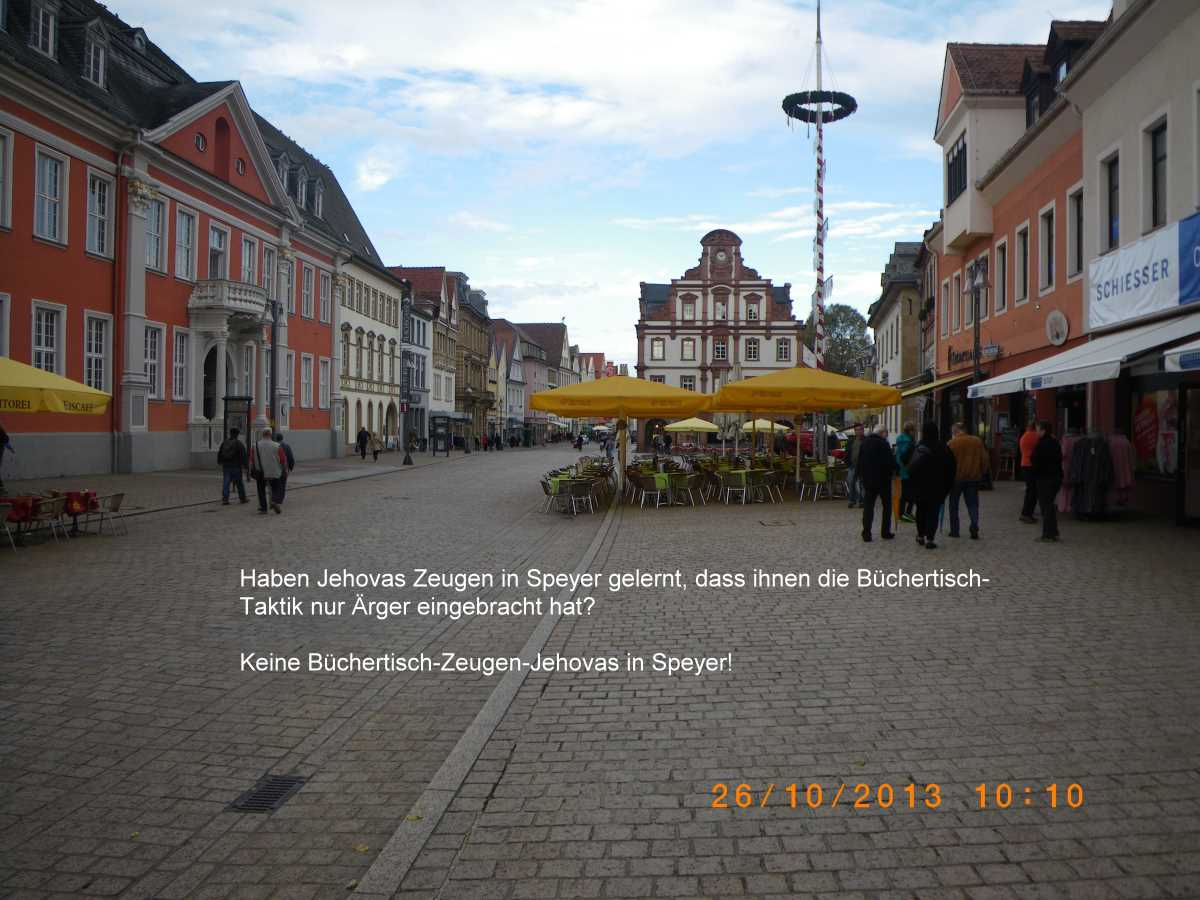 No book table Witness Jehovah's in Speyer