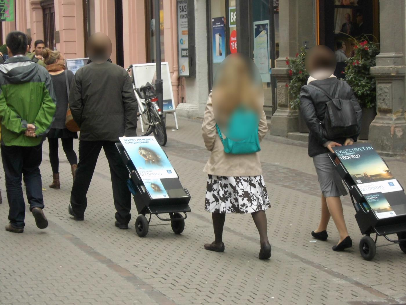 Heidelberg: Jehovah's Witnesses Bleeding Procession