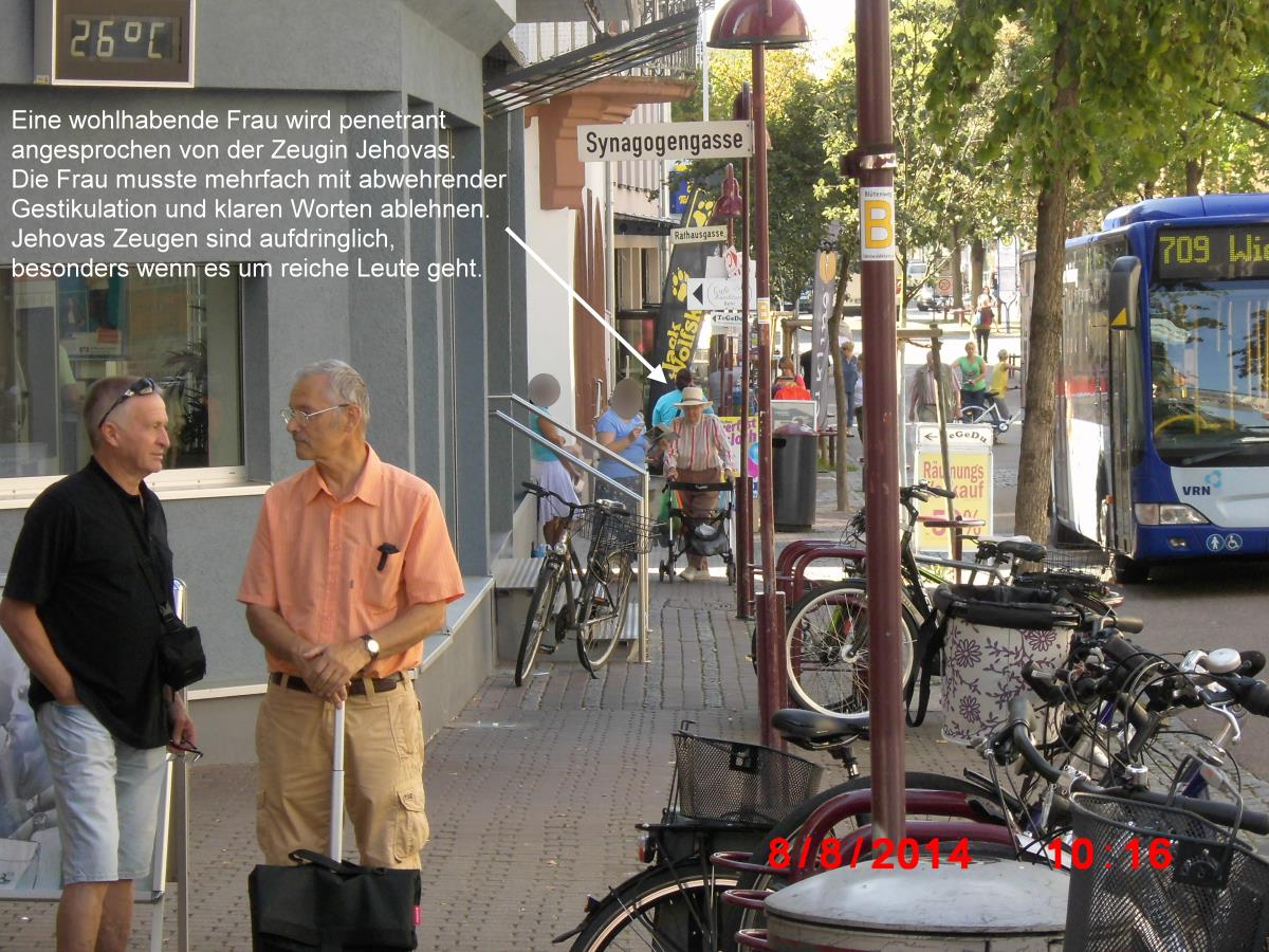Jehovah's Witnesses not steadfast in Wiesloch