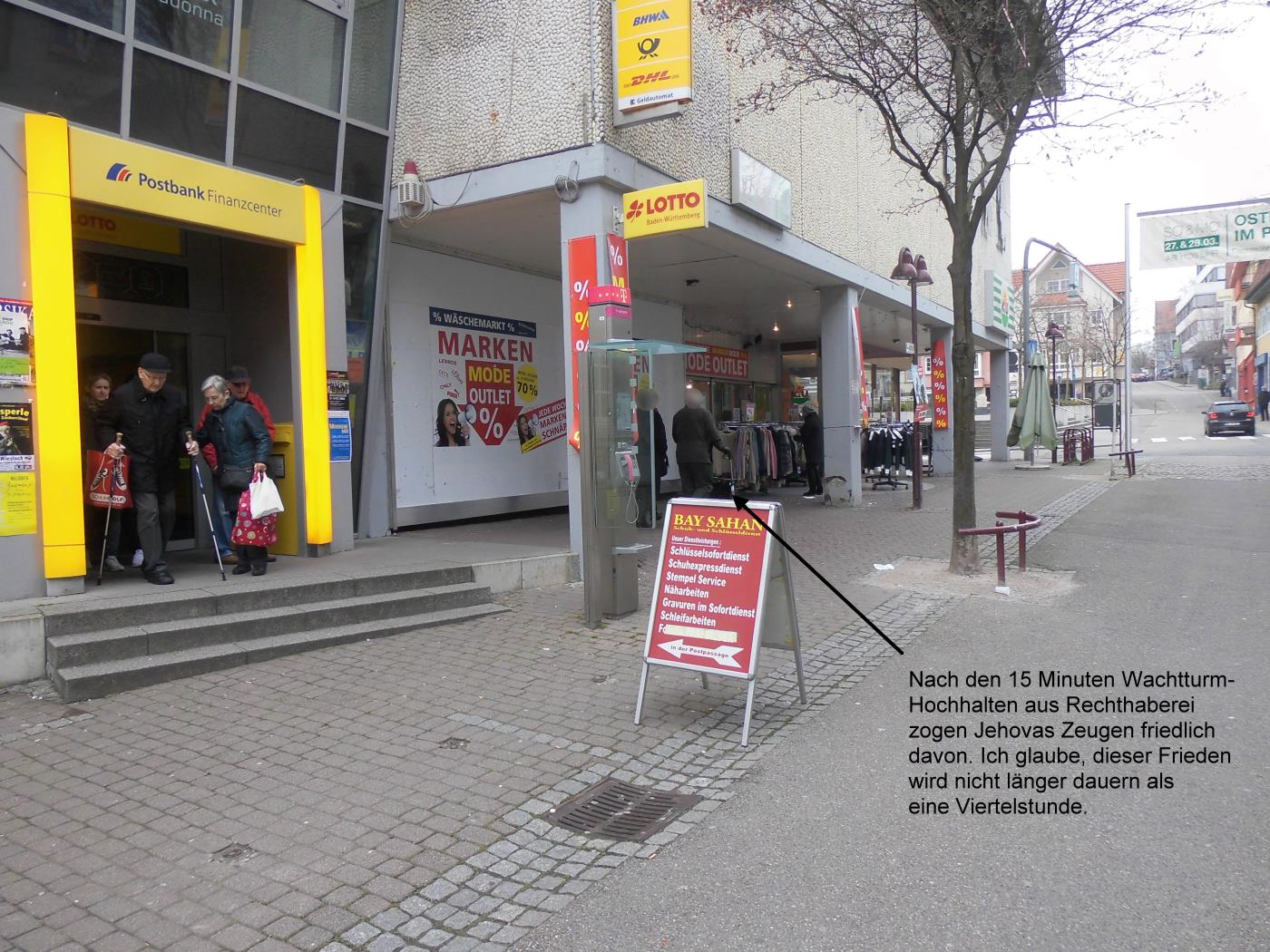 Jehovah's Witnesses in Wiesloch recognize their embarrassment