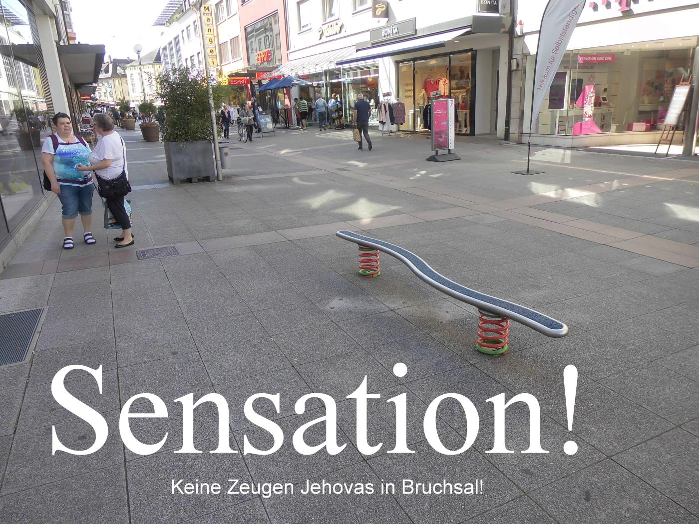 Jehovah's Witnesses do not show up in Bruchsal