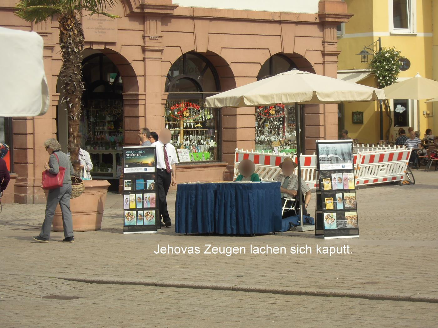 Jehovah's Witnesses in Speyer small with hat