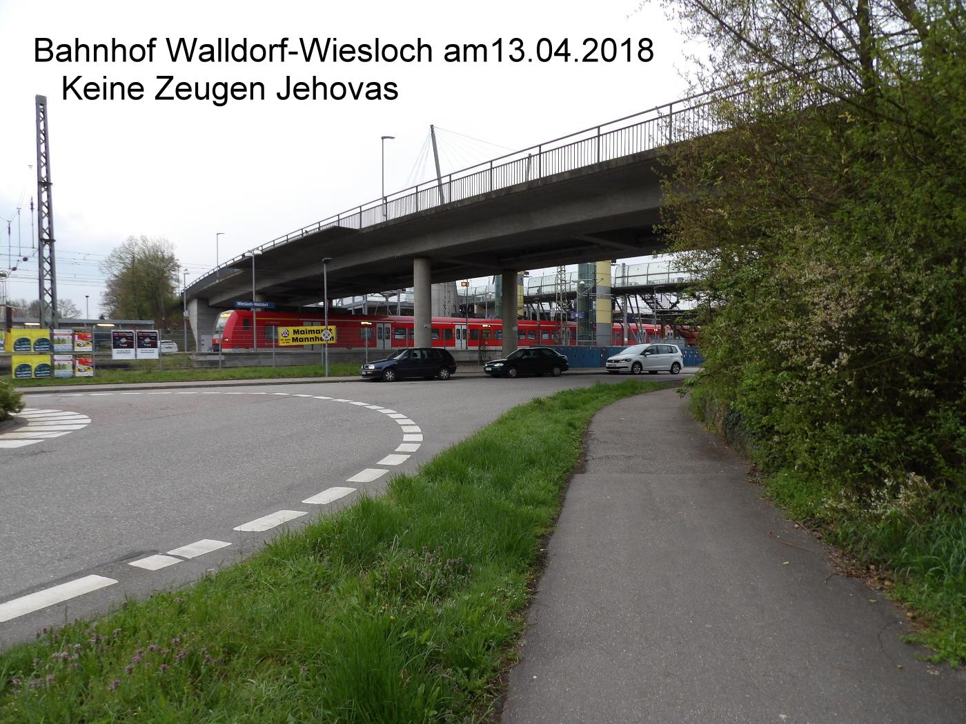 Jehovah's Witnesses have learned that they no longer have to show up at Walldorf-Wiesloch station on Fridays
