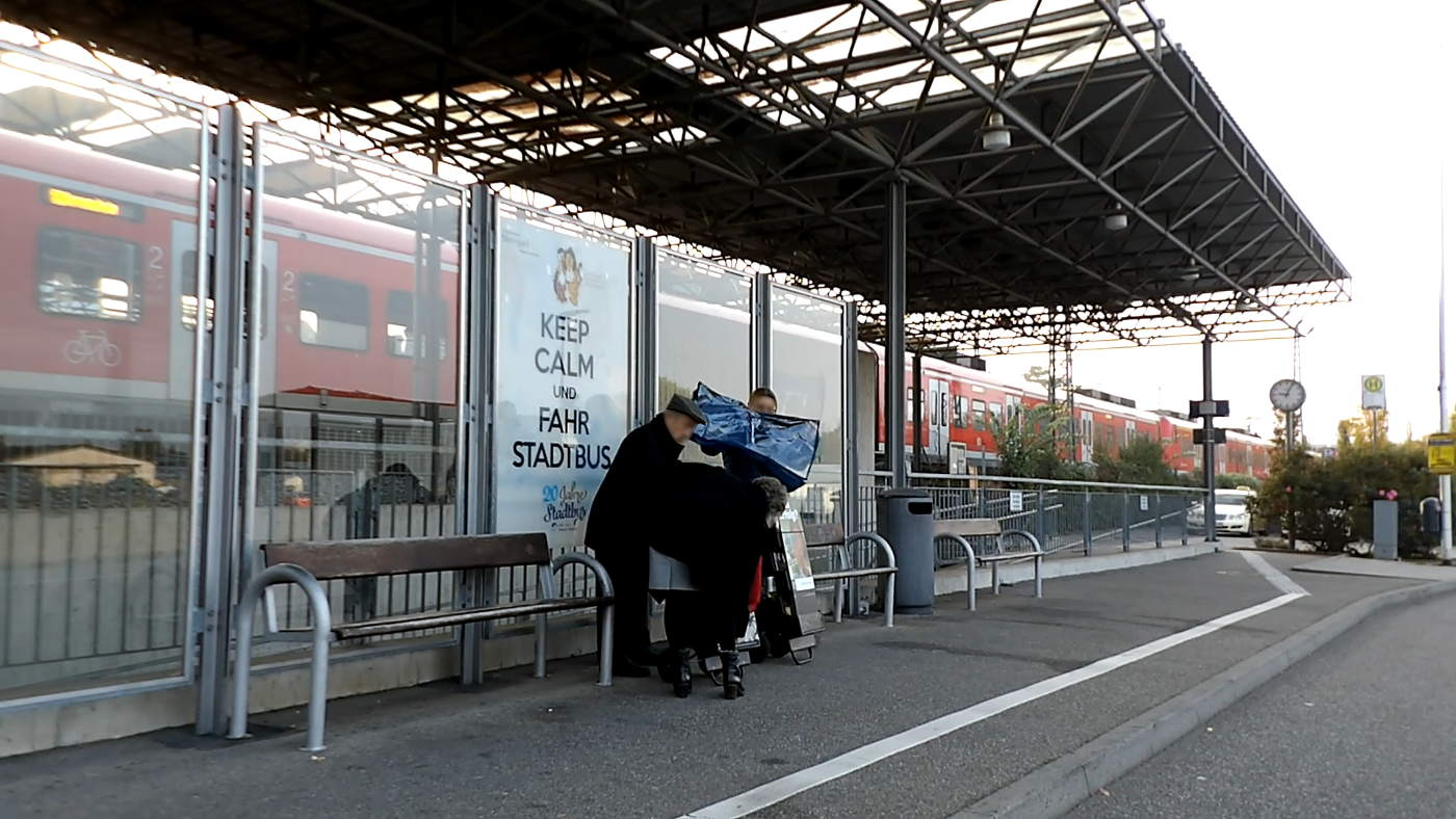 Wiesloch-Walldorf railway station - serious audience - no green and Merkel spoiled people