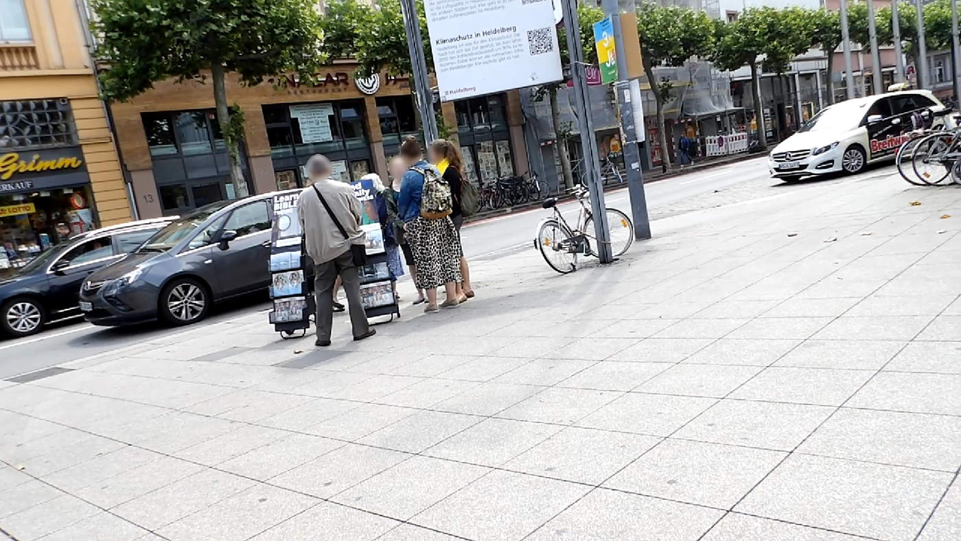 "Test of courage - ""policeman"" from Walldorf instills fear - But there was a great response in Heidelberg"