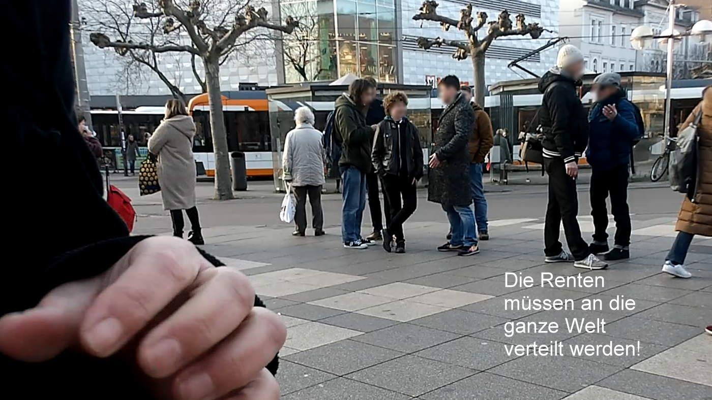 Vigil against poverty in old age in Heidelberg