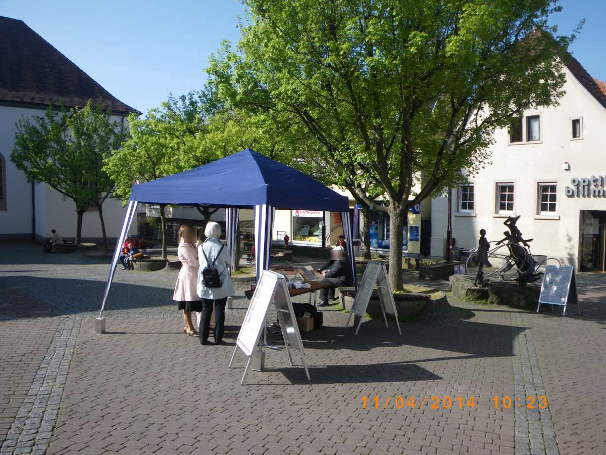 Wiesloch: Jehovah's Witnesses advertise the Anti-Evening Meal