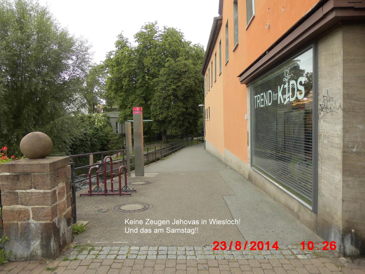 On Saturday (23.08.2014) not a single Jehovah's Witness in Wiesloch