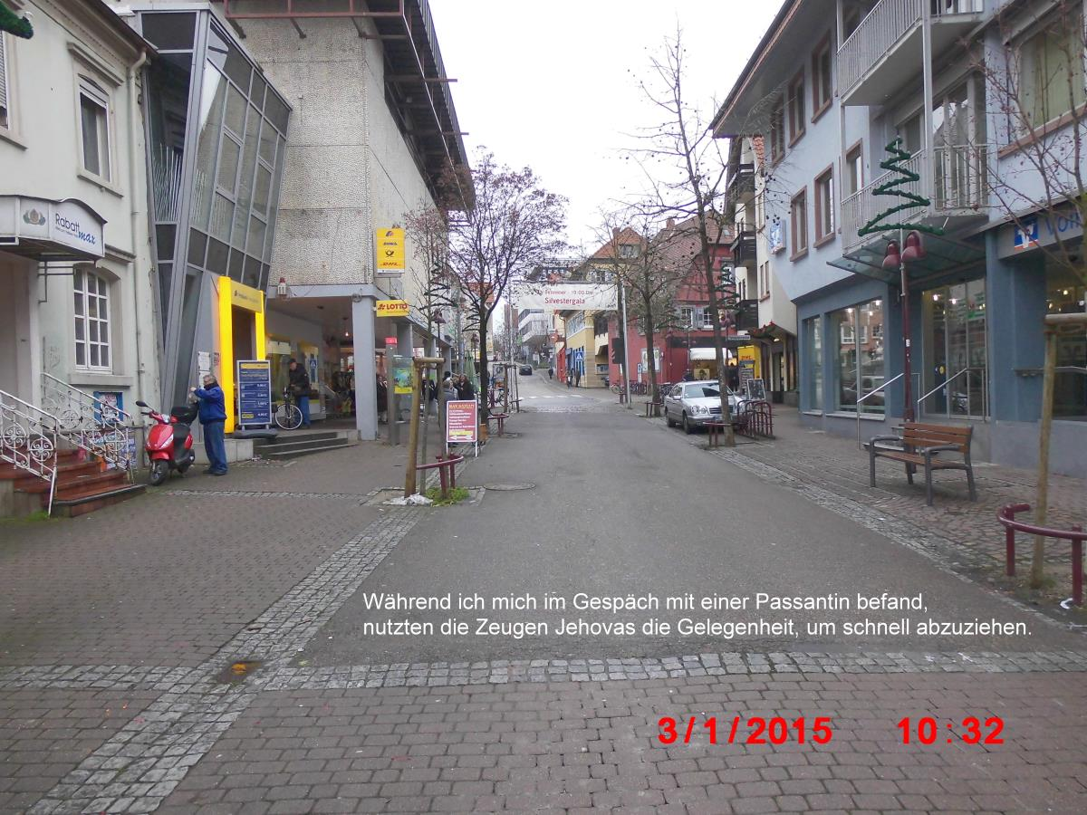 Jehovah's Witnesses fear for their Highness in Wiesloch Pedestrian Zone