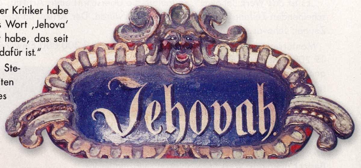 Satan's alias Jehova